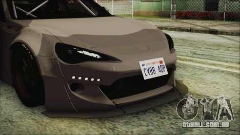 Toyota GT86 Rocket Bunny Tunable IVF para GTA San Andreas vista interior