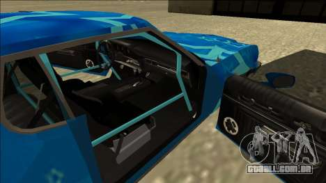 Ford Gran Torino Drift Blue Star para GTA San Andreas vista traseira