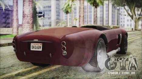GTA 5 Declasse Mamba IVF para GTA San Andreas esquerda vista