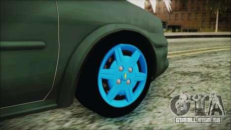 Chevrolet Corsa para GTA San Andreas traseira esquerda vista
