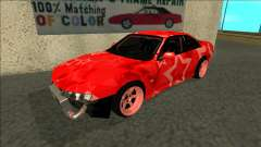 Nissan Silvia S14 Drift Red Star