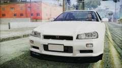 Nissan Skyline GT-R M-Spec Nür 1999 para GTA San Andreas