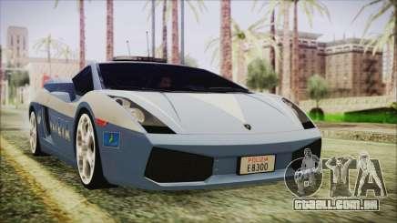 Lamborghini Gallardo 2004 Italian Polizia para GTA San Andreas