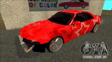 Nissan Skyline R33 Drift Red Star para GTA San Andreas