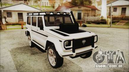 Benefactor Dubsta 4x4 Custom Tuning para GTA San Andreas