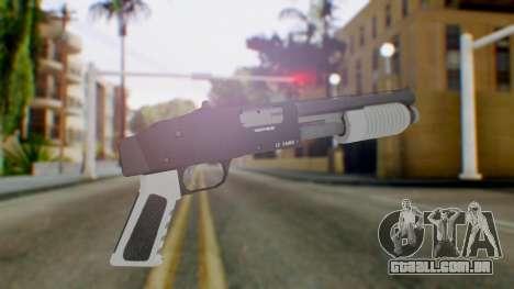 GTA 5 Sawed-Off Shotgun - Misterix 4 Weapons para GTA San Andreas segunda tela