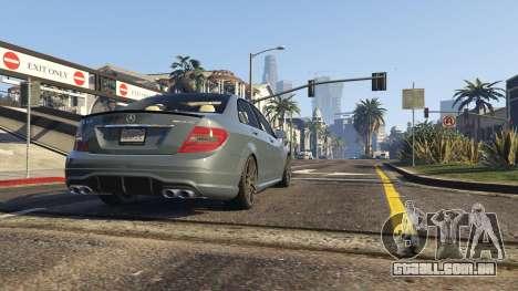 GTA 5 Mercedes-Benz C63 AMG v2 voltar vista