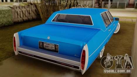 GTA 4 Albany Emperor para GTA San Andreas esquerda vista