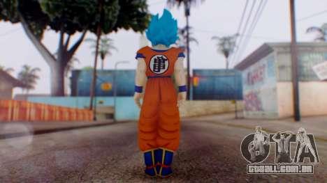 Goku SSJ God Blue (SSGSS) para GTA San Andreas terceira tela