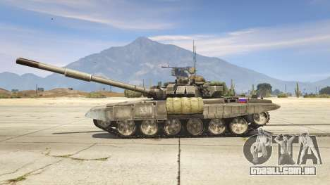 GTA 5 T-90 vista lateral esquerda