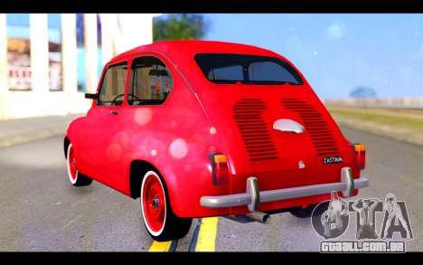 Zastava 750 - The Cars Movie para GTA San Andreas esquerda vista