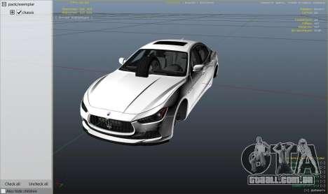 GTA 5 Maserati Ghibli S vista lateral direita