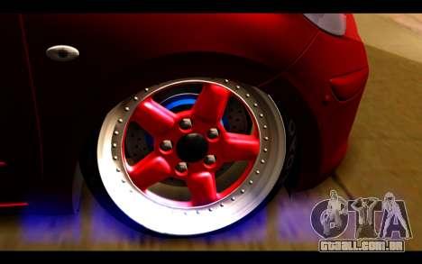 Nissan March 2011 Hellaflush para GTA San Andreas traseira esquerda vista