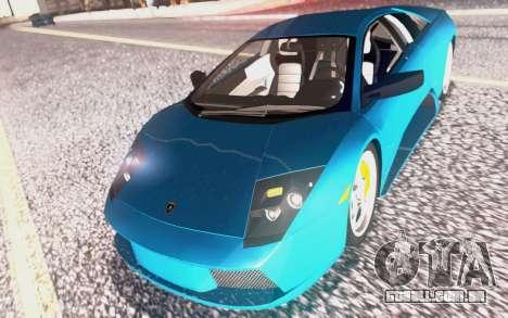 Lamborghini Murcielago 2005 para GTA San Andreas interior