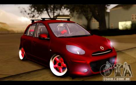 Nissan March 2011 Hellaflush para GTA San Andreas