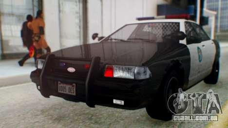 GTA 5 Vapid Stanier II Police para GTA San Andreas