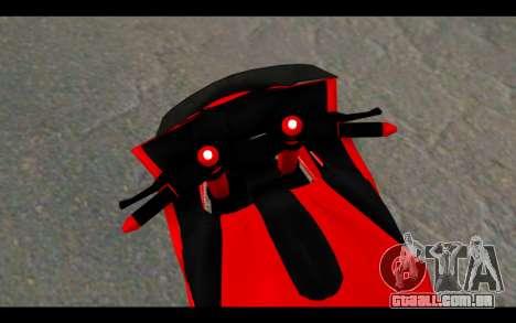 Bajidi 1R para GTA San Andreas traseira esquerda vista