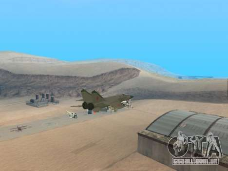 O MiG 25 para GTA San Andreas vista direita