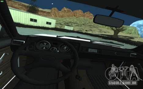 VAZ 2105 para GTA San Andreas para GTA San Andreas vista interior