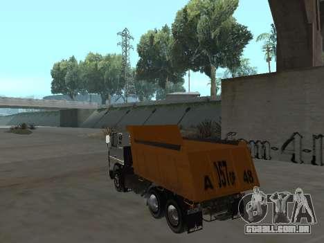 MAZ 551605-221-024 para GTA San Andreas esquerda vista