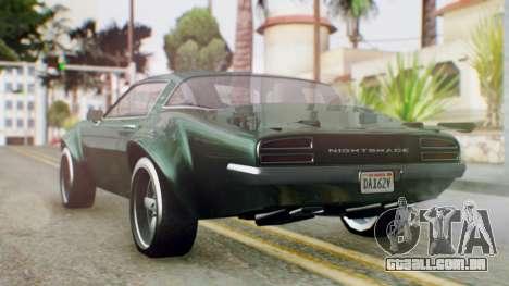 GTA 5 Imponte Nightshade para GTA San Andreas esquerda vista