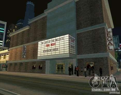 Tudo sobre o cinema para GTA San Andreas