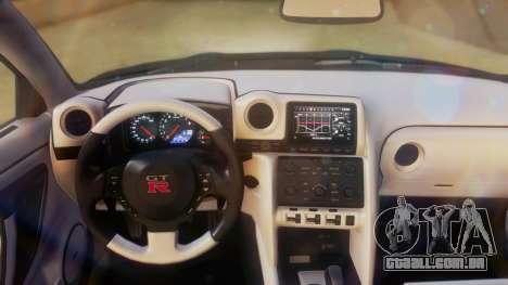 Nissan GT-R Police Rocket Bunny para GTA San Andreas vista traseira