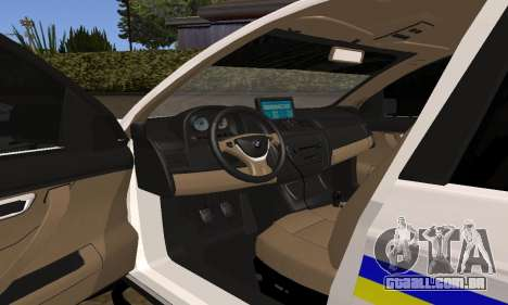 BMW X5 Ukranian Police para GTA San Andreas vista superior