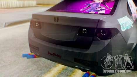 Honda Accord Yukari Itasha para GTA San Andreas vista traseira
