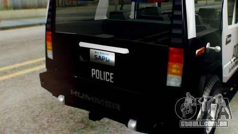 New Police Ranger para GTA San Andreas vista direita