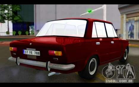 Fiat 124 para GTA San Andreas esquerda vista
