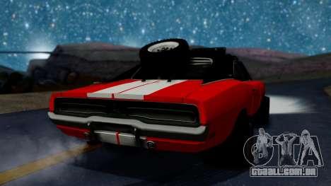 Dodge Charger 1969 Rusty Rebel para GTA San Andreas esquerda vista