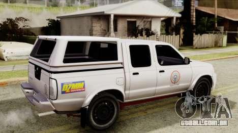 Nissan Frontier ABS CBN para GTA San Andreas traseira esquerda vista