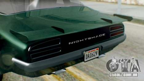 GTA 5 Imponte Nightshade para GTA San Andreas vista direita