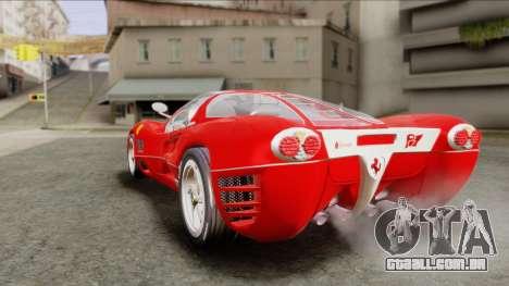 Ferrari P7 Chromo para GTA San Andreas esquerda vista