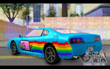 Jester PJ of Nyan Cat para GTA San Andreas esquerda vista