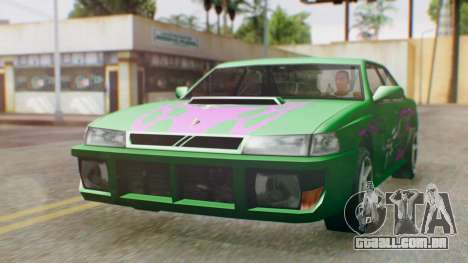 Sultan Винил из need For Speed Underground 2 para GTA San Andreas vista direita