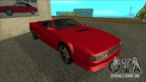 Cheetah Cabrio para GTA San Andreas esquerda vista