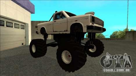 Bobcat Monster Truck para GTA San Andreas esquerda vista