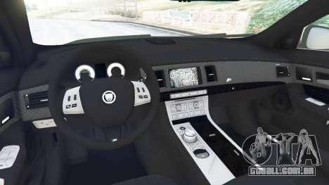 GTA 5 Jaguar XFR 2010 traseira direita vista lateral