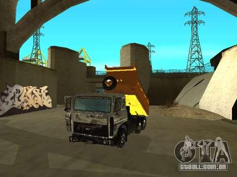 MAZ 551605-221-024 para GTA San Andreas vista traseira