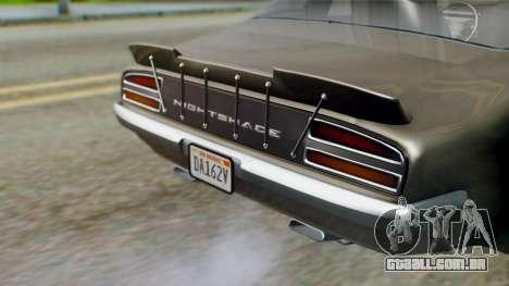 GTA 5 Imponte Nightshade IVF para GTA San Andreas vista interior