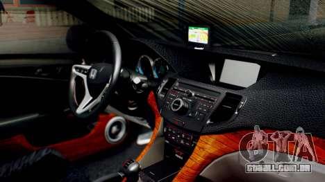 Honda Accord Yukari Itasha para GTA San Andreas vista direita
