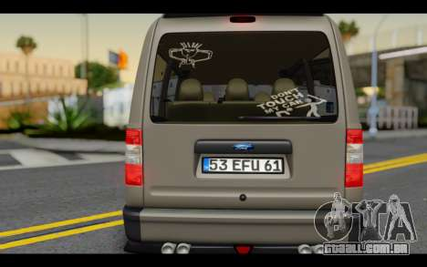 Ford Connect Rizeli para GTA San Andreas vista interior