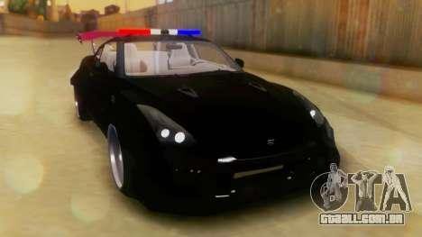 Nissan GT-R Police Rocket Bunny para GTA San Andreas vista direita