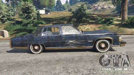 GTA 5 Cadillac Fleetwood Brougham 1985 [rusty] vista lateral esquerda