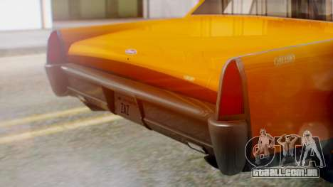 GTA 5 Vapid Chino Tunable para GTA San Andreas vista interior