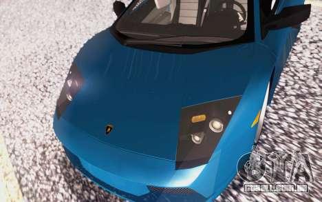 Lamborghini Murcielago 2005 para GTA San Andreas vista inferior