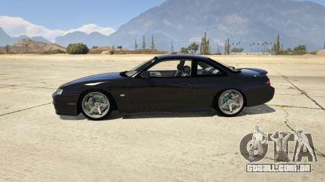 GTA 5 Nissan 200sx S14 Kouki vista lateral esquerda