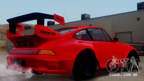 Porsche 993 GT2 RWB Rough Rhythm para GTA San Andreas esquerda vista
